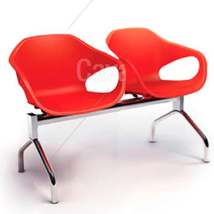 Conjunto Cadeira Auditório longarina 33110 2L - ESTRUTURA CROMADA -  Linha Stay - Cavaletti