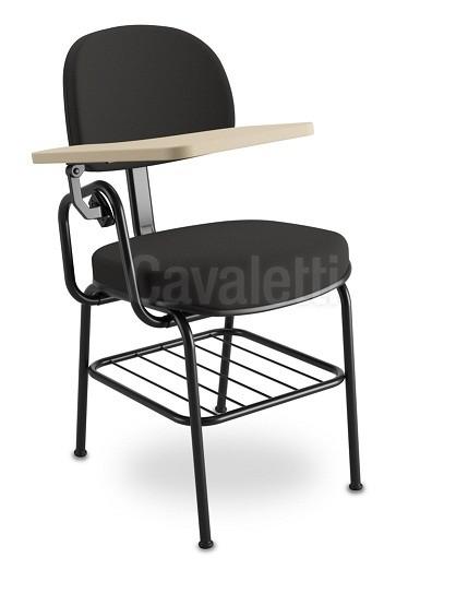 Cadeira Universitária 4008 PUE c/ Gradil e Prancheta Escamoteável em MDF - Linha Start - Cavaletti