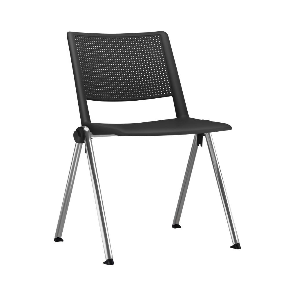 Cadeira Fixa YUP4 - Base Fixa Cromada - Linha Up Fixa - Sem Braço - Frisokar