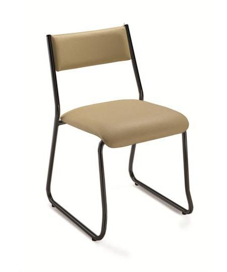Cadeira para escritório fixa aproximação 1003 -  ESTRUTURA Preta - Linha Coletiva - Cavaletti