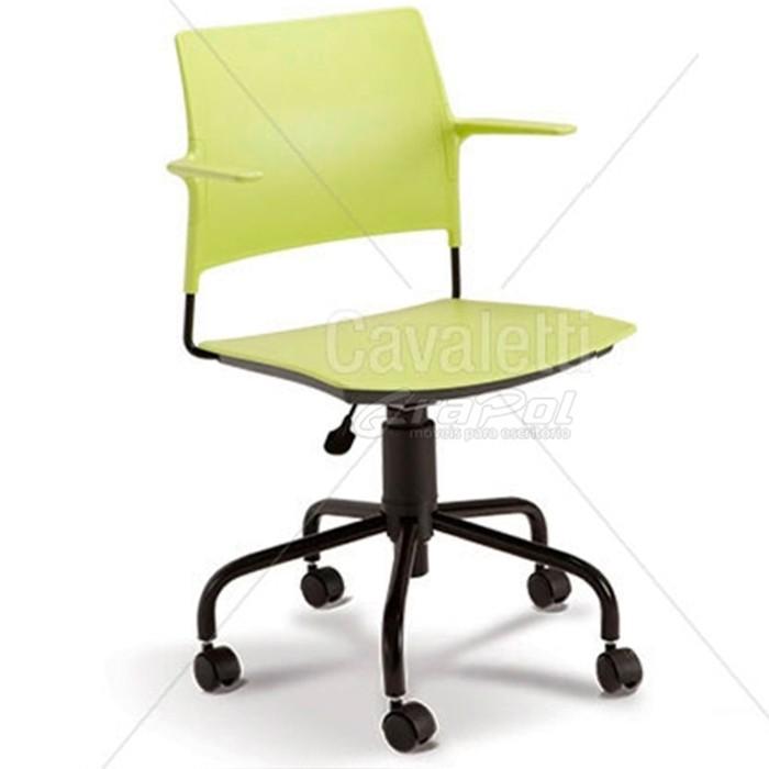 Cadeira para escritório executiva giratória 34003 - Linha Go - Cavaletti - Base Aranha