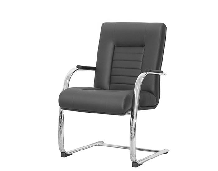 Cadeira Fixa ONIFX015 - Base SKL Cromada - Linha New Onix - Com Braço Cromado - Frisokar