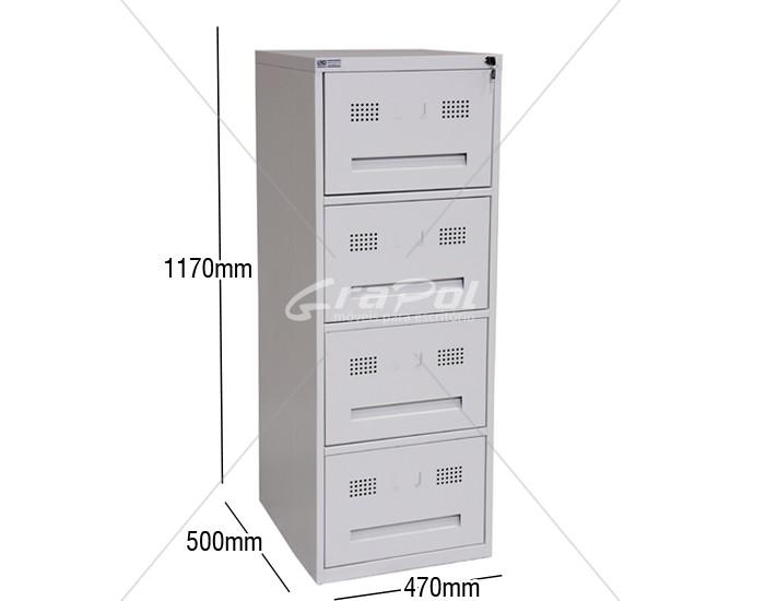 Arquivo de Aço 4 Gavetas Para Pasta Suspensa RAOC-4 - RCH - 0,50m Profundidade ( Altura menor de 1,17m) -
