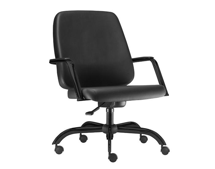 Cadeira Giratória MAX006 Extra - Base Giratória Preta - Com Braço - Linha Maxxer - Capacidade 150kg - Frisokar