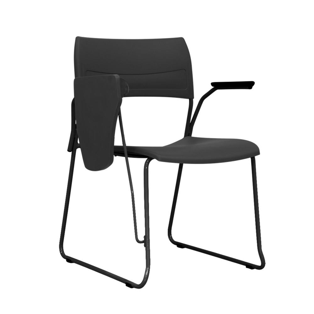 Cadeira Universitária NIN001 - Base Fixa Preta - Linha Nina - Com Prancheta - Sem Gradil - Frisokar