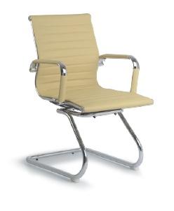 Cadeira para escritório fixa de aproximação - BLUME 04 - Braço fixo - Base SKI Cromada