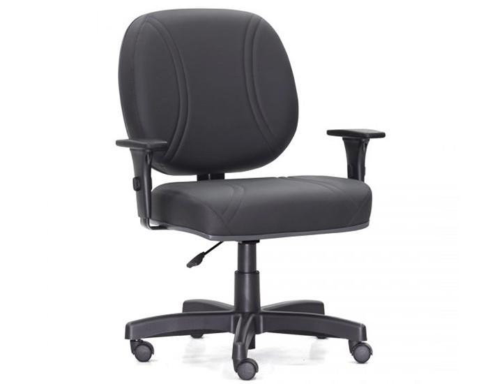 Cadeira Giratória MAX11 Extra - Base Polaina - Com Braço PU - Capacidade 140kg - Linha Maxxer Class - Frisokar