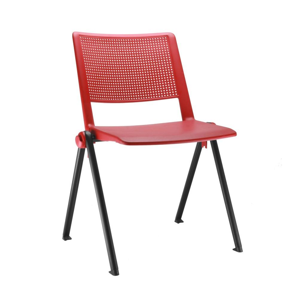 Cadeira Fixa YUP2 - Base Fixa Preta- Linha Up Fixa - Sem Braço - Frisokar