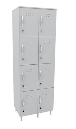 Armário para Vestiário Guarda Volumes com 8 Portas - MDP