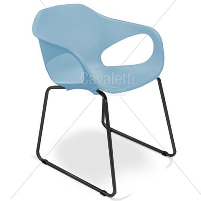 Cadeira para escritório fixa aproximação 33107 Arco - Base Preta - Linha Stay - Cavaletti