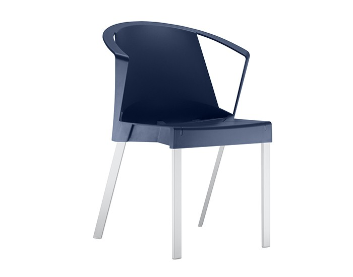 Cadeira Fixa SHI003 - Base Fixa em Alumínio - Linha Shine - Com Braço - Frisokar