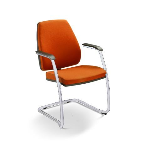 Cadeira para escritório fixa aproximação 38006 SI - Encosto alto - ESTRUTURA CROMADA - Linha Pro - Cavaletti