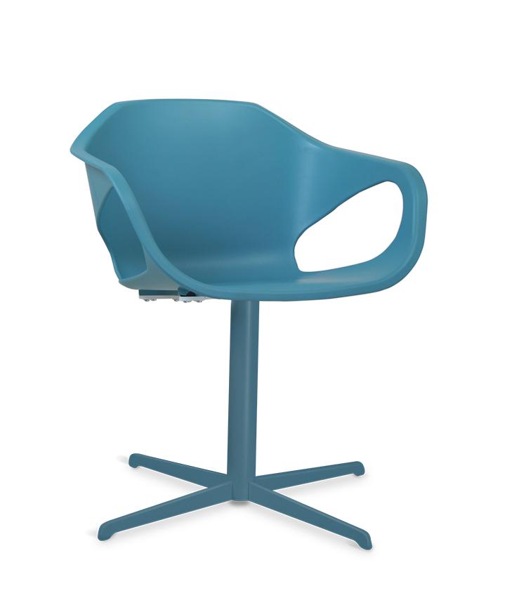 Cadeira Giratória 33108 - Estrutura Prata/Colorida - Linha Stay - Cavaletti