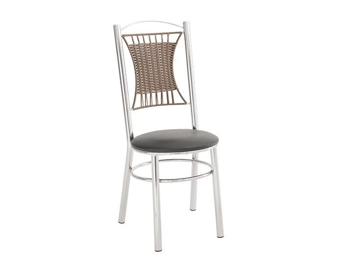 Cadeira 413 em Aço - Assento Redondo - Estofada - Unimóvel
