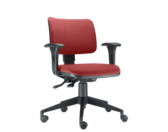 Cadeira Para Escritório Diretor Giratória ZIP403 - Mecanismo Evolution - Encosto Estofado- Base Piramidal de Nylon - Linha ZIP - Com Braço PP - Frisokar