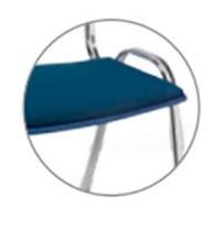 Assento estofado VIVA - Para cadeiras linha VIVA