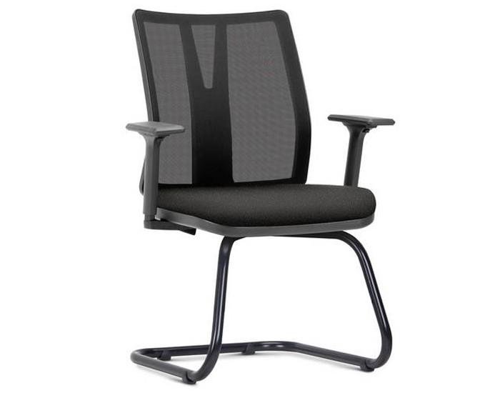 Cadeira Fixa KADD78 -  Base Fixa Diretor Preta - Linha Addit - Com Braço - Frisokar