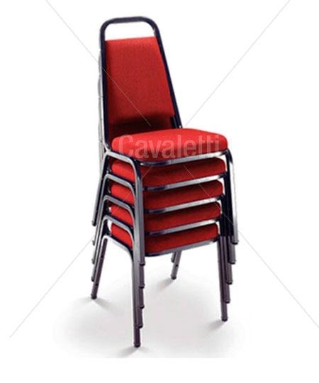 Cadeira Aproximação Empilhável 1001 - Espuma INJETADA - Linha Coletiva - Cavaletti -