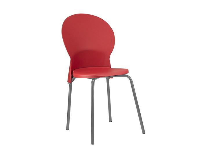 Cadeira Fixa LUN02 - Base Fixa Cinza - Linha Luna - Sem Braço - Frisokar