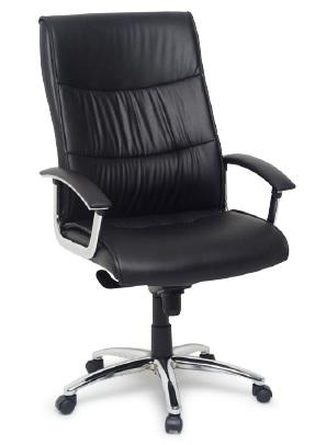 Cadeira para escritório giratória presidente BLUME 108 - LINHA EXTRA - Braço fixo - Blume Office - Base Aço cromado