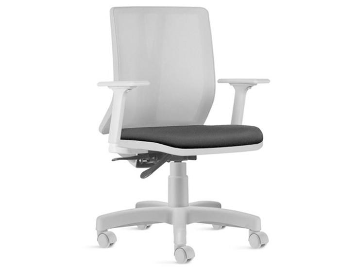 Cadeira Para Escritório Diretor Giratória KADD80 - Estrutura Cinza - Mecanismo Evolution - Base Metálica com Capa - Linha Addit - Com Braço - Frisokar