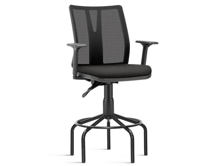 Cadeira Fixa Caixa KADD54 - Mecanismo Evolution - Base Pedestal Fixa - Linha Addit - Com Braço - Frisokar