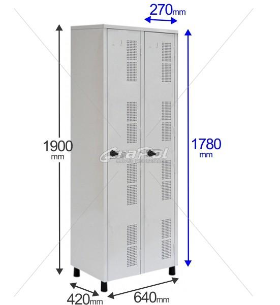 Roupeiro Para Vestiário RGRIP-2 2 Portas - Com Fecho Porta-Cadeado - RCH