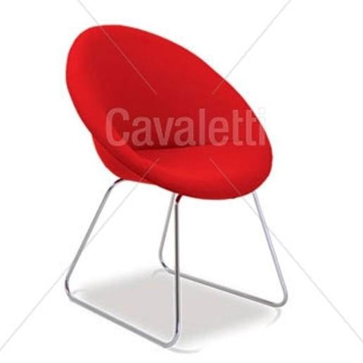 Poltrona Espera fixa 36040 - Linha Spot - Cavaletti