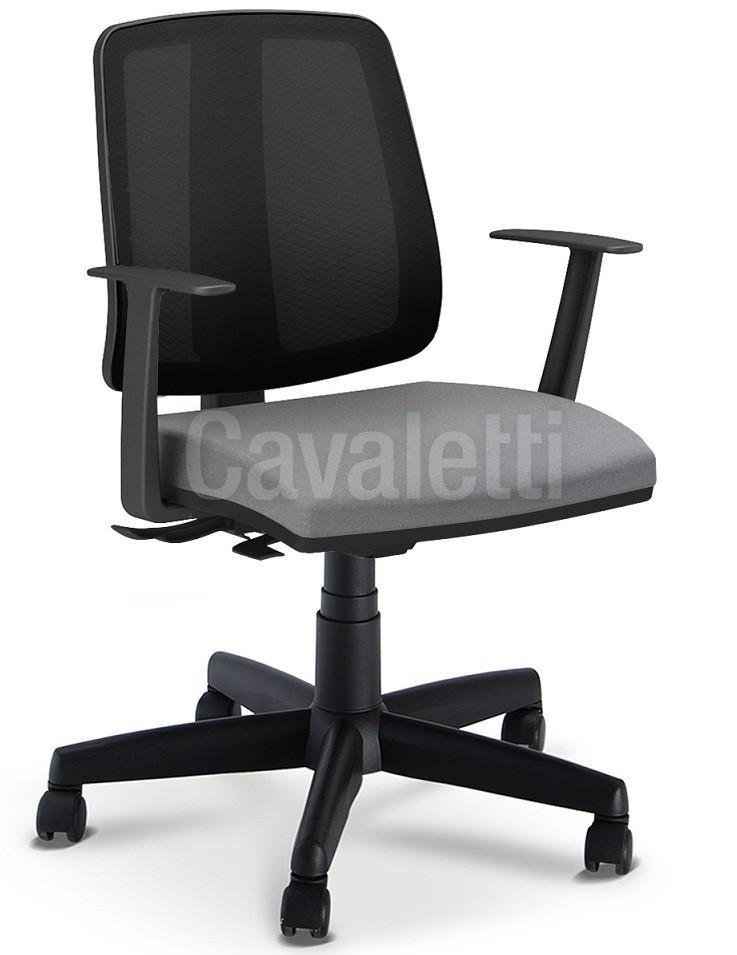 Cadeira para escritório executiva giratória 43103 SRE - Linha Flip - Braço TC - Cavaletti - Aranha POLAINA