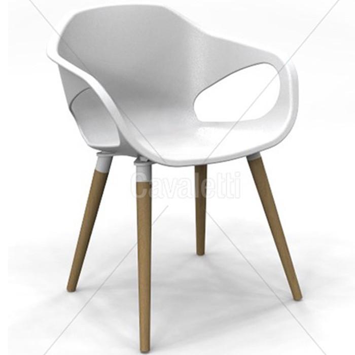 Cadeira para escritório fixa aproximação 33206 Palito - Pés em Madeira - Linha Stay - Cavaletti