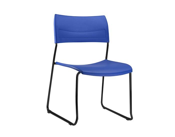 Cadeira Fixa NIN024 - Base Fixa Preta - Linha Nina - Sem Braço - Frisokar