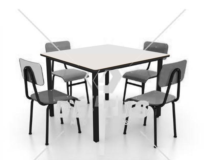 Conjunto de mesa infantil (1 à 5 anos) - Branco ou Bege -  Dellus
