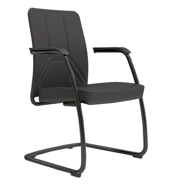 Cadeira para escritório Fixa 19006 SL - Linha Way - Estrutura Preta- Cavaletti