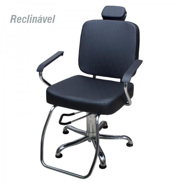 Cadeira Toronto - Encosto Reclinável - Com Cabeçote - Kixiki Móveis