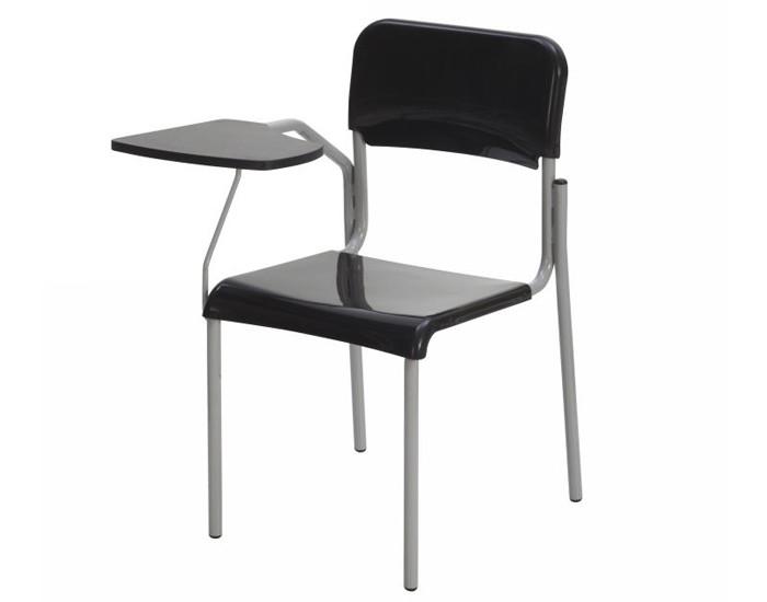 Cadeira Fixa ESC002 - Base Fixa Cinza - Com Prancheta Fixa - Sem Gradil - Linha Escolar - Frisokar