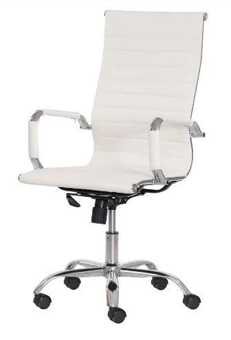 Cadeira Office Stripes Presidente - Mecanismo Relax - Braço fixo e Base Cromada