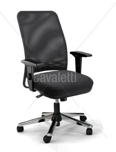 Cadeira para escritório giratória diretor 16002 - Syncron - Linha NewNet - Braço SL - Cavaletti - Base Cromada -