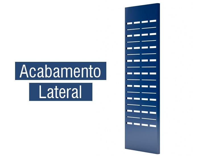 Estante Expositora para Biblioteca -W-teca -  c/ 4 Prateleira + Base 2000X1000X445mm  -