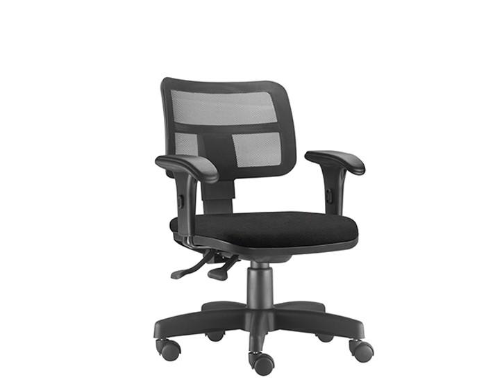 Cadeira Para Escritório Diretor Giratória ZIP325 - Mecanismo Evolution - Encosto em Tela - Base Metálica com Capa - Linha ZIP - Com Braço PP - Frisokar