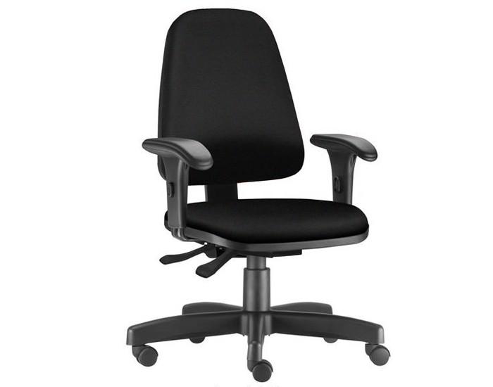 Cadeira Para Escritório Presidente Giratória SKY395 - Mecanismo Evolution - Base Metálica com Capa - Linha SKY- Com Braço PP - Frisokar