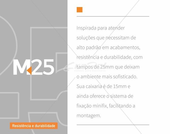 Mesa Reta Pé Painel - 25mm - 1500mm x 600mm x 750mm -