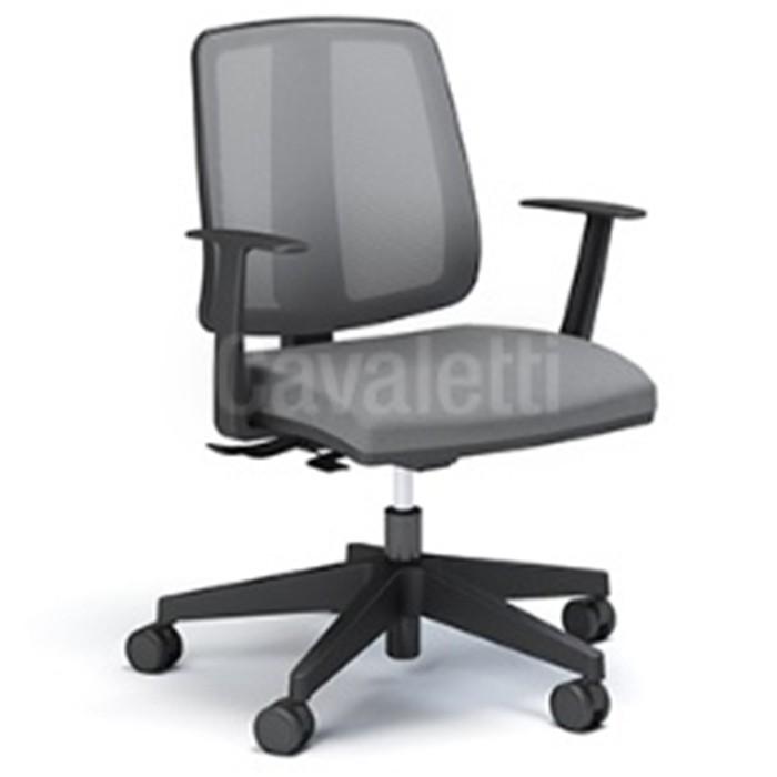 Cadeira para escritório executiva giratória 43103 SRE - Linha Flip - Braço TC - Cavaletti - Aranha NYLON