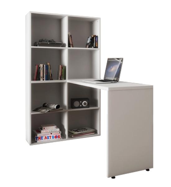 Home Office Composto de Mesa e Armário de Nichos - Armário - 850mm X 300mm X 1510mm Mesa - 1200mm X 430mm X 740mm
