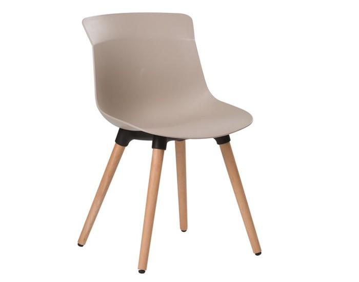 Cadeira ANM 6708F - Base em Madeira - Estrutura em Polipropileno - Encosto Anatômico - Anima Home & Office