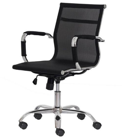 Cadeira Office Mesh Diretor - Mecanismo Relax - Braço fixo e Base Cromada