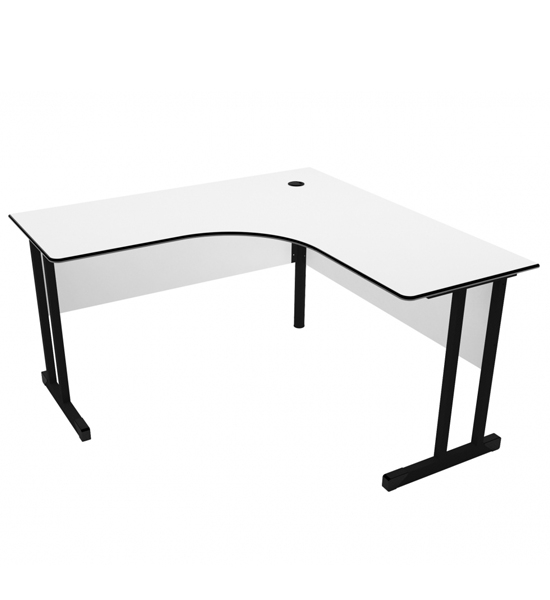 Mesa Angular Light 1316 Direita - 1370mm  X 1600mm X 740mm