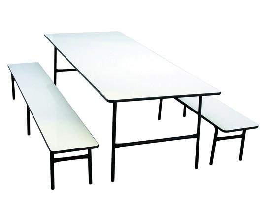 Mesa para Refeitório com bancos adulto - 2000 x 800 x 750 mm - Dellus