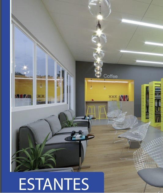 Estante Simples Face para Biblioteca  -  W-teca-  c/ 3 Prateleira + Base 1500 X 1000 X 315 mm  -