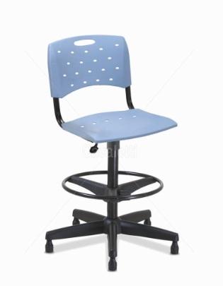 Cadeira para escritório giratória caixa plástica 35022 BG - Linha Viva - Cavaletti - Base Polaina com Sapata