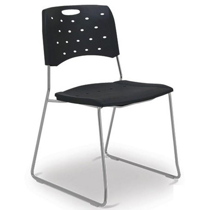 Cadeira para escritório fixa 35008 A - Estrutura Prata - Linha Viva - Cavaletti
